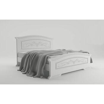Кровать Инесса с металлическим каркасом Неман