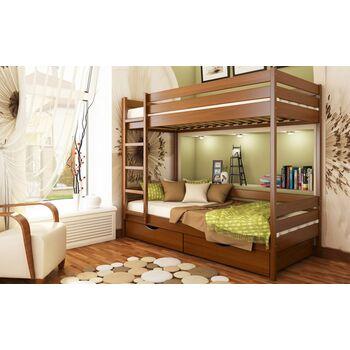 Кровать двухъярусная Дуэт Бук массив Эстелла 80x190