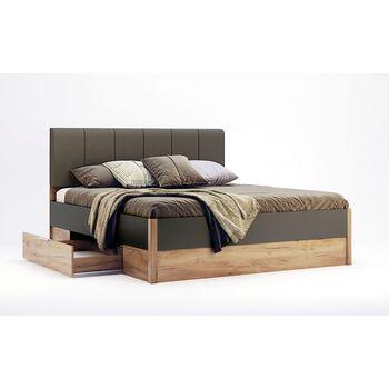 Кровать Рамона 180 см без каркаса, с ящиками, мягкая спинка MiroMark
